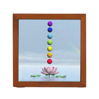 Chakras and rainbow - 3D render Desk Organizer