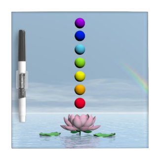 Chakras and rainbow - 3D render Dry Erase Board