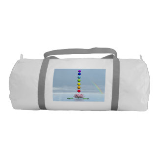 Chakras and rainbow - 3D render Gym Bag