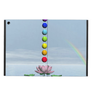 Chakras and rainbow - 3D render iPad Air Case