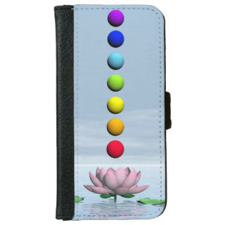 Chakras and rainbow - 3D render iPhone 6 Wallet Case