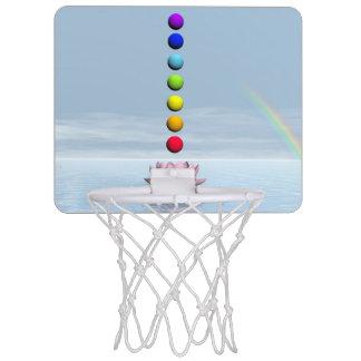 Chakras and rainbow - 3D render Mini Basketball Hoop