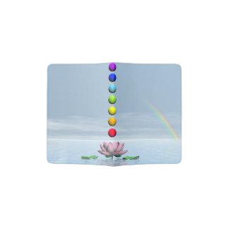 Chakras and rainbow - 3D render Passport Holder