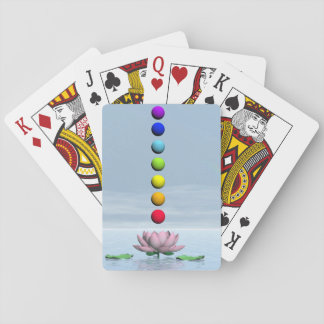 Chakras and rainbow - 3D render Playing Cards