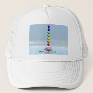 Chakras and rainbow - 3D render Trucker Hat
