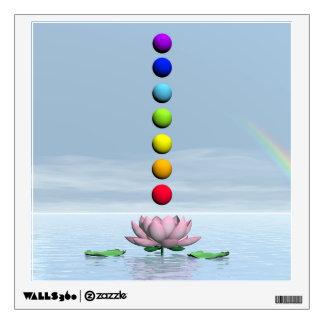 Chakras and rainbow - 3D render Wall Sticker