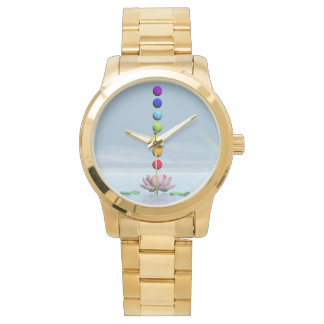 Chakras and rainbow - 3D render Watch