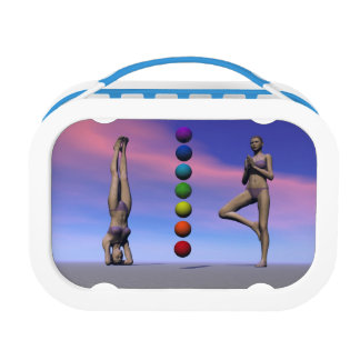 chakras and yoga and sky lunch box