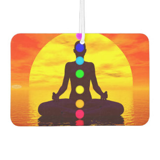 Chakras at sunset - 3D render Car Air Freshener