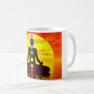 Chakras at sunset - 3D render Coffee Mug