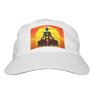 Chakras at sunset - 3D render Hat