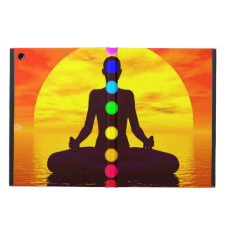 Chakras at sunset - 3D render iPad Air Case