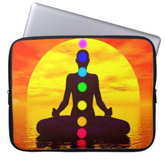 Chakras at sunset - 3D render Laptop Sleeve