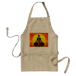 Chakras at sunset - 3D render Standard Apron