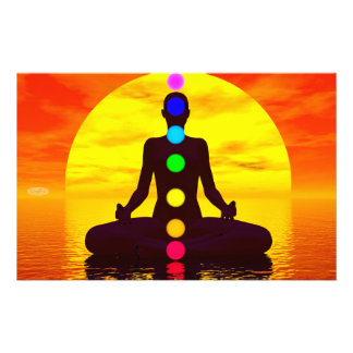 Chakras at sunset - 3D render Stationery
