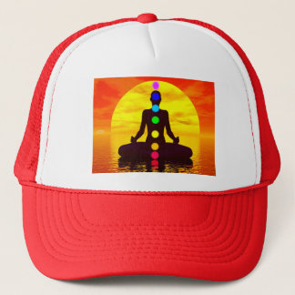 Chakras at sunset - 3D render Trucker Hat