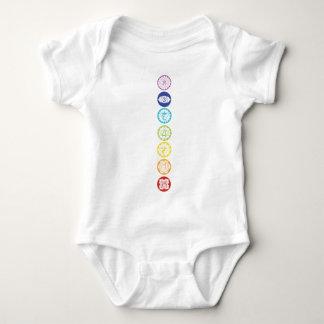 chakras baby bodysuit
