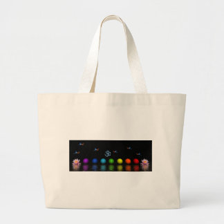 chakras birds and aum large tote bag