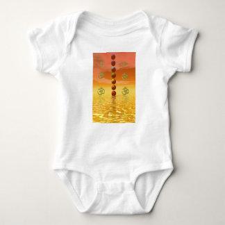 chakras orange baby bodysuit