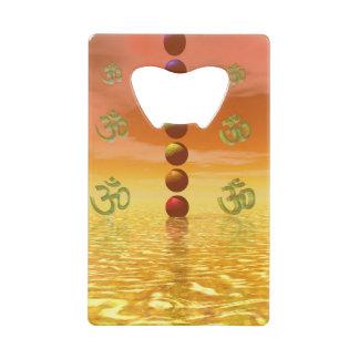 chakras orange wallet bottle opener