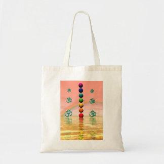 chakras pink tote bag