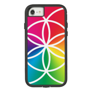 Chakras Rainbow Seed of Life Symbol Case-Mate Tough Extreme iPhone 8/7 Case