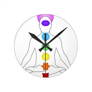 Chakras Round Clock