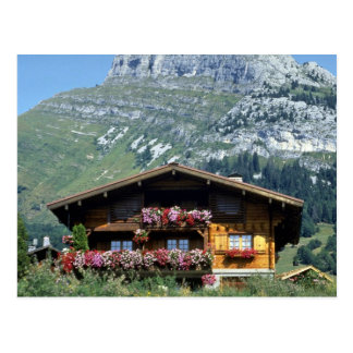 Chalet above Le Grand Bornand, French Alps, France Postcard