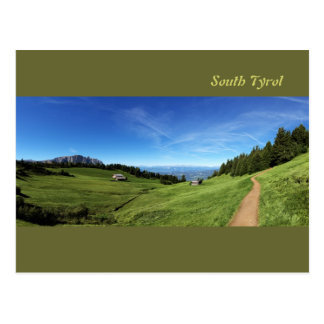Chalet and pastures in South Tyrol Postcard