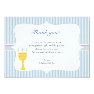 Chalice Communion Blue Thank You Card