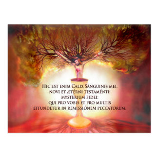 Chalice of Christ with Poem: The Holy Hour Postcard