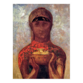 Chalice of Mystery - Spiritual Art by Odilon Redon Postcard