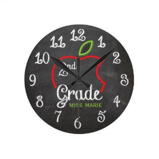 Chalk 2nd Grade | Personalized Clock