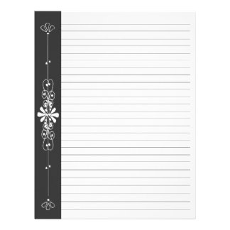 Chalk Board Border Black | White Lined Pages