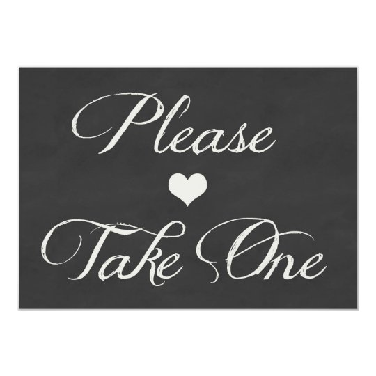 Chalk Board Hearts Wedding | Take One Card