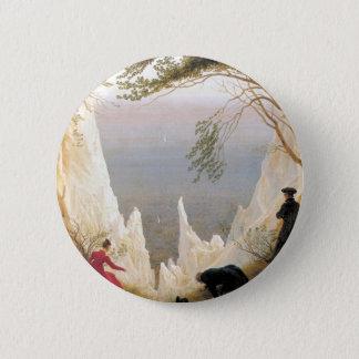 Chalk Cliffs on Rugen 2 Inch Round Button