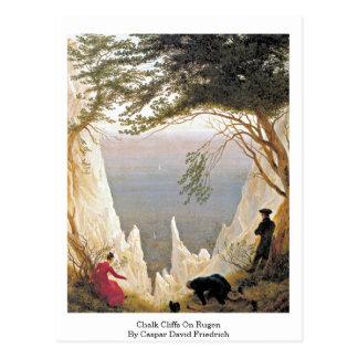 Chalk Cliffs On Rugen By Caspar David Friedrich Postcard