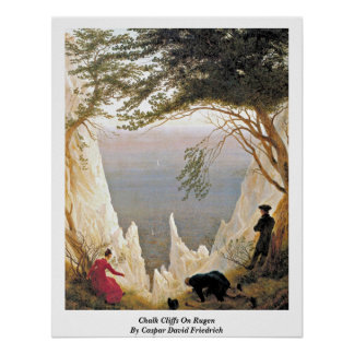 Chalk Cliffs On Rugen By Caspar David Friedrich Poster
