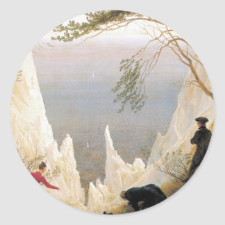 Chalk Cliffs on Rugen Classic Round Sticker