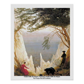 Chalk Cliffs On Rügen, Germany Poster
