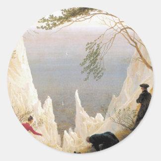 Chalk Cliffs on Rugen Round Sticker
