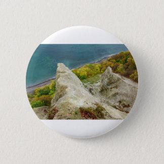 Chalk cliffs on the island Ruegen 2 Inch Round Button