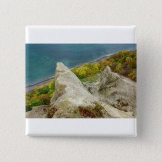 Chalk cliffs on the island Ruegen 2 Inch Square Button