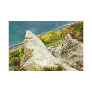 Chalk cliffs on the island Ruegen Canvas Print