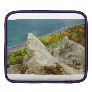 Chalk cliffs on the island Ruegen iPad Sleeve