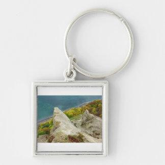 Chalk cliffs on the island Ruegen Keychain