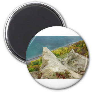 Chalk cliffs on the island Ruegen Magnet