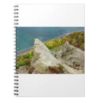 Chalk cliffs on the island Ruegen Notebooks