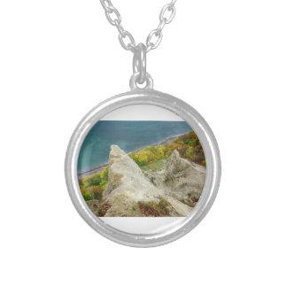 Chalk cliffs on the island Ruegen Silver Plated Necklace