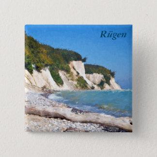 Chalk Cliffs, Ruegen 2 Inch Square Button
